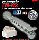 FM-X5. Tassello prolungato multiespansione